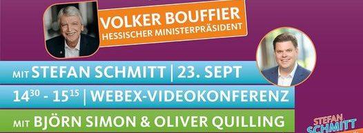 Onlineverstaltung mit Volker Bouffier