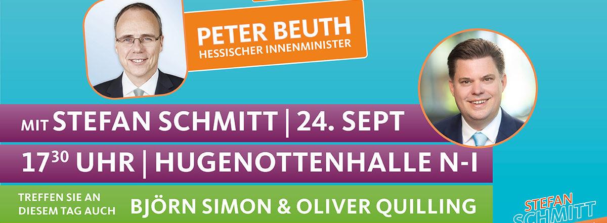 Veranstaltung mit Innenminister Peter Beuth in der Hugenottenhalle
